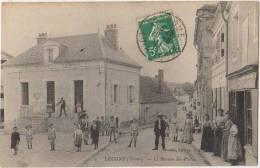 CPA 89 LEUGNY Rue Commerce Epicerie Bureau De Poste Animation 1911 - Francia