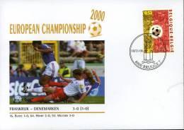 CALCIO UEFA FOOTBALL CHAMPIONSHIP EURO 2000 FDC FRANCE DENMARK - Europei Di Calcio (UEFA)