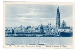 ¤  Belgique Antwerpen Panorama Der Schelde , Anvers Panorama De L´escaut Carte Non Voyagée - Antwerpen