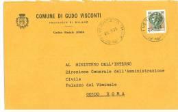 GUDO VISCONTI 20088  PROV. MILANO  - ANNO 1979  - LS  -TEMATICA COMUNI D´ITALIA - STORIA POSTALE - Affrancature Meccaniche Rosse (EMA)