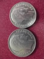 2 Pieces 20 Fr Argent 1933 - Francia