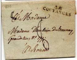 MANCHE  - 48 /COUTANCES  - PORT DU . 11- 48-B - 1801-1848: Precursors XIX