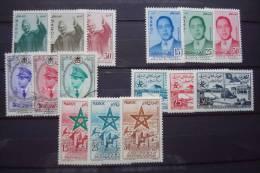 MAROC . N° 374/385 + PA 103/5 (*/o) - Morocco (1956-...)