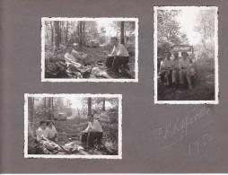 20977 - 3 Photo Originales 6 De 5x8 - Philippeville , Belgique, 4 Juin 1950 - Voiture Ancienne