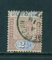 SIERRA LEONE - 1896 Queen Victoria 21/2d Used As Scan - Sierra Leone (...-1960)