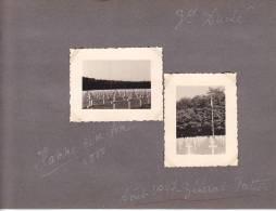 20980 - 2 Photo Originales  4x5 - Hamme Cimetiere, Aout 1947 General Patton - Luxembourg