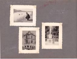 20981 - 3 Photo Originales  4x5 - Remich -Echternach - Luxembourg Cave Saint Martin -aout 1947