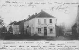 """GRIMBERGHEN - Chaussée De Wolverthem - Superbe Carte """"Au Pavillon Belge"""" Circulée 1904 - Grimbergen"""