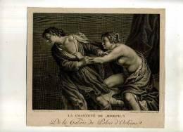 - LA CHASTETE DE JOSEPH . BURIN DU DEBUT XIXe S. . - Religion & Esotérisme