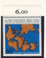 1980 Germany Berlin Complete MNH Alfred Wegener Set Of 1 Stamp  Michel # 616 - Unused Stamps