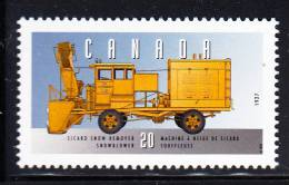 Canada MNH Scott #1605t 20c Sicard Snow Remover Snowblower - Historic Land Vehicles Collection - 1952-.... Regno Di Elizabeth II