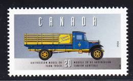 Canada MNH Scott #1605v 20c Gotfredson Model 20 Farm Truck - Historic Land Vehicles Collection - Unused Stamps