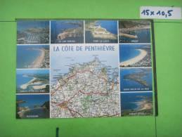 22) Cote De Penthievre :dahouet,erquy,matignon,frehel,fort De Latte,val Andre,sables D'or, Multivues: Michelin 230 - Non Classés