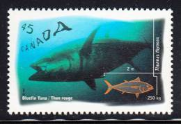 Canada MNH Scott #1644 45c Bluefin Tuna - Ocean Water Fish - Unused Stamps
