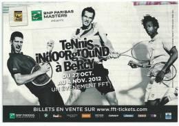 Tennis Indoorground à Bercy BNP PARISBAS Masters Monfils Murray; Djokovic Tournoi Du 27/ 10/2012 - Tennis