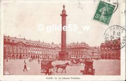 PARIS - La Colonne Vendôme (animée) (pub. Emile J. Bannier - Confitures, Marrons Glacés, Fruits Confits, Etc.) - N° 15 - Autres Monuments, édifices