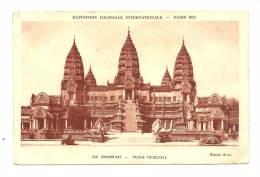 Cp, 75, Paris, Exposition Coloniale Internationale - 1931 - Angkor-Vat, Façade Principale - Expositions