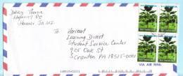 Jamaika Jamaica Jamaique Brief Cover Lettre 966 (4er) Bäume Pflanzen  (22934) FFF - Jamaica (1962-...)