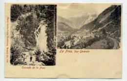 Suisse--LA PRAZ--env 1900--Cascade De La PRAZ (petite Animation),Vue Générale N° 1289 éd H.Genta---pas Vu Sur Delcampe - VD Vaud