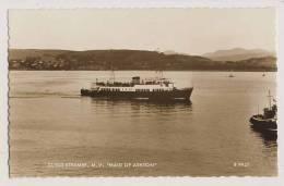 Shipping - Clyde Steamer, M.V. Maid Of Ashton - RPPC - Steamers