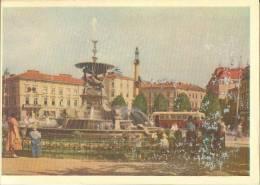 Ukraine, Lvov, Fountain On Mickiewicz Square, 1962 Unused Postcard [11749] - Ukraine