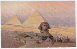EGYPTE  -  PYRAMIDES AVEC SPHINX - ILLUSTRATEUR   KIRCHER   -  1061 - Pyramids