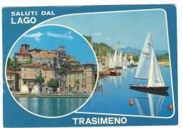 G64 Saluti Dal Lago Trasimeno (Perugia) - Multipla / Viaggiata - Other Cities