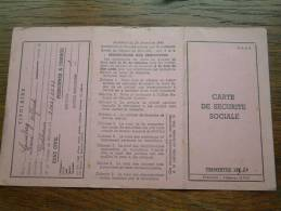 Carte De Securité Sociale LOUSBERG René - Dolhain / 1950 ( Voir Détails Photo ) ! - Andere Verzamelingen