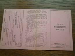 Carte De Securité Sociale LOUSBERG René - Dolhain / 1949 ( Voir Détails Photo ) ! - Altri