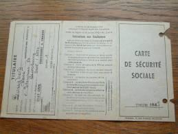 Carte De Securité Sociale LOUSBERG René - Limbourg / 1947 ( Voir Détails Photo ) ! - Autres Collections