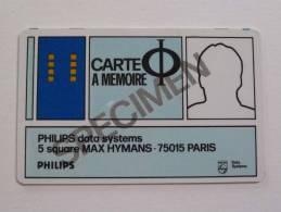 FRANCE - Philips - Smart Card - Carte A Memoire - 1981 - Specimen - France