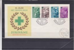 Pays Bas - Surinam - Lettre De 1965 - Croix Verte - Enfants - Surinam ... - 1975