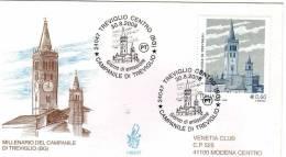 Busta 1° Giorno - Campanile Di Treviglio Anno 2008 - F.D.C.