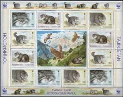 TADJIKISTAN 1996 - WWF Felin - Feuillet Neuf Sans Charniere (Yvert 3 X 86/89) - Tadjikistan