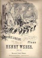 Partition Très Ancienne: Un Orage, Imitation De La Nature Pour Le Piano Par Henry Weber. - Scores & Partitions