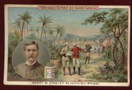 Chromo Liebig  Henry M. Stanley Au Centre De L' Afrique    Lot No 8 - Liebig