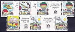 ** Tchécoslovaquie 1977 Mi 2396-2400 (Yv 2232-6), Paire Avec Interpaneau, (MNH) - Posta Aerea