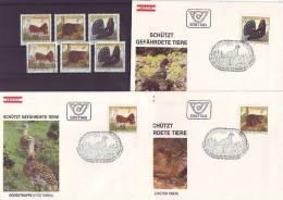 1004a: Schützt Gefährdete Tiere, Österreich 1982, Serie **/o/ FDC - Umweltschutz Und Klima