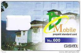 Bhutan,Nu.600 GSM Frame Without Chip - Bhoutan