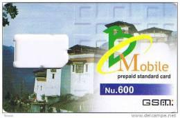 Bhutan,Nu.600 GSM Frame Without Chip