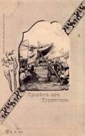 RUSSIA - TURKESTAN [ TURKMÉNISTAN ] - SCÉNE DE MARCHÉ : BELLE ANIMATION ! - PRÉCURSEUR - ANNÉE ~ 1900 (m-589) - Turkménistan