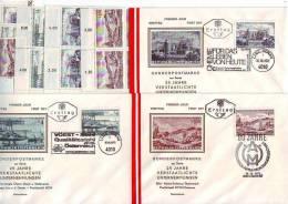 1003g: Verstaatlichte Eisen- & Stahlindustrie Österreich 1971 Vierer-**,o,FDCs - Geologie