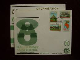 KUT 1975 O.A.U. SUMMIT CONFERENCE, KAMPALA Issue FDC With 4 Values To 3/-. - Kenya, Uganda & Tanzania