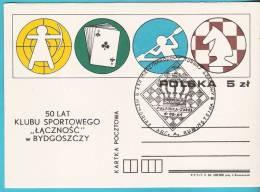 Poland 1984, Polanica, Chess Echecs, Sport, Archery - Scacchi