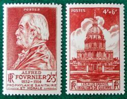 ALFRED FOURNIER ET LES INVALIDES 1946 - NEUFS ** - YT 748 + 751 - MI 741 + 744 - France