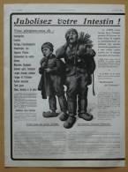 Pub Papier 1913 Médicament Médecine JUBOL Ets Chatelain Médicaments Rééduque L´intestin Dessin Enfant Ramoneur - Advertising