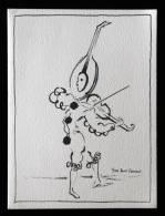 Livret Illustration Dessin Yves St Saint Laurent - Pierrot à Tête De Guitare - Intérieur Vierge - Excellent état - Autres