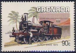 "Grenada 1984 Mi 1329 YT 1201 Sc 1236 ** Lok ""Dutch State"" (1873) /  Lokomotiven - Treinen"