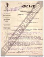 ALLIER - MONTLUCON - SOCIETE ANONYME DES PNEUMATIQUES DUNLOP - AUTOMOBILE - LETTRE - 1929 - Cars