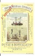 PUBLICITE Vers 1900  DUVAU ET BONVALLETS -  EPONGES - PARIS - Plaques En Carton